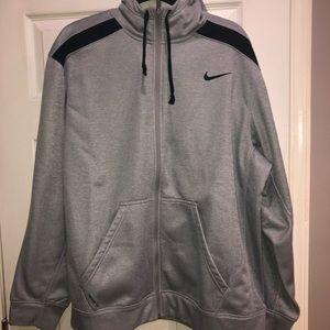 Nike ThermaFit Gray hooded sweatshirt size XXL